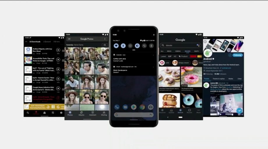 Google IO 19 Dark Theme official screenshots Android Q