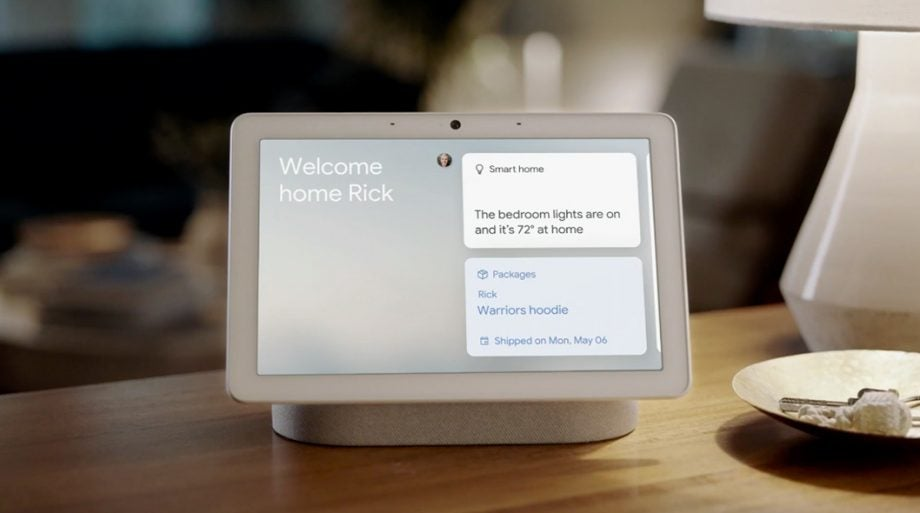 Google IO 19 Nest Hub Max Face Match welcome home