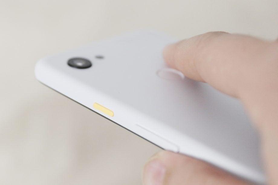 Google Pixel 3a XL back angled macro