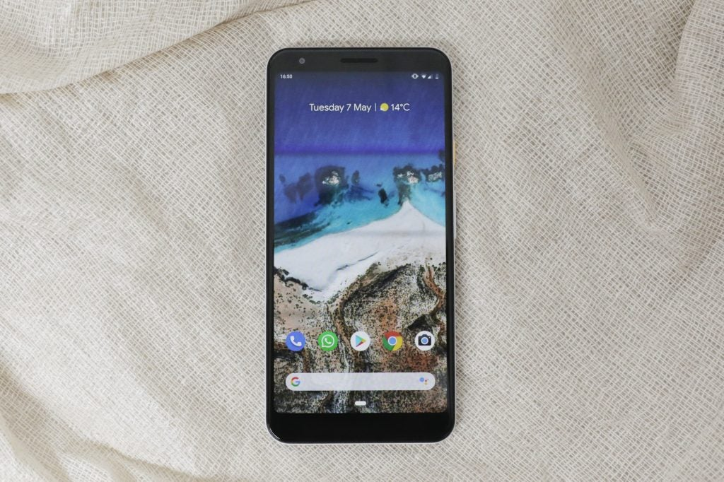Google Pixel 3a XL front straight