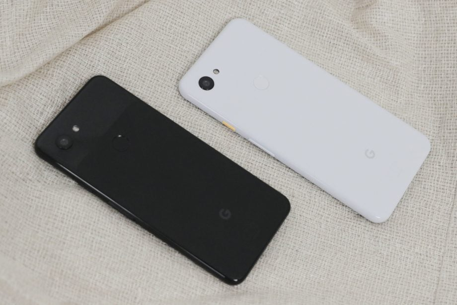 Google Pixel 3a and 3a XL back angled