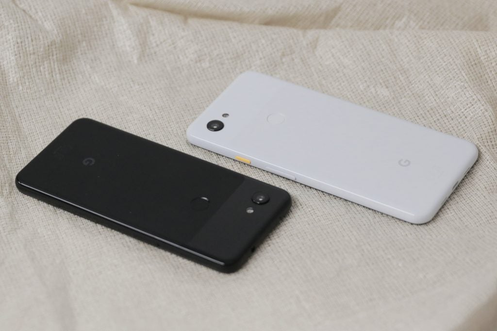 Google Pixel 3a and 3a XL back angled inverted