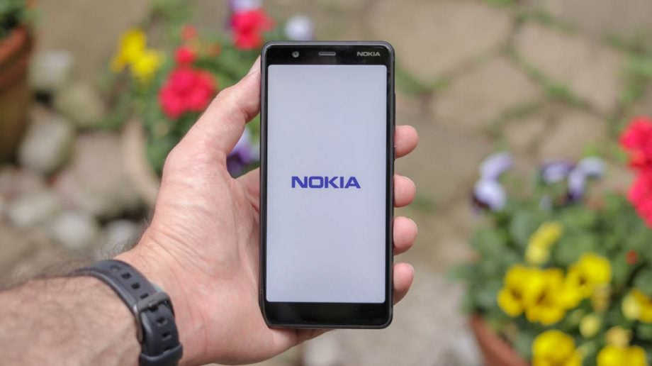 Nokia 5.1 nokia logo straight handheld