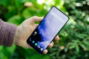 OnePlus 7 Pro handheld front angled
