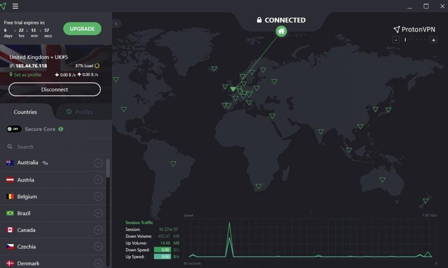 ProtonVPN desktop client