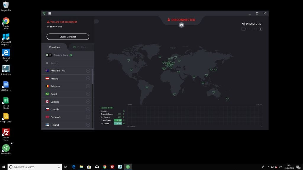 Proton VPN desktop client