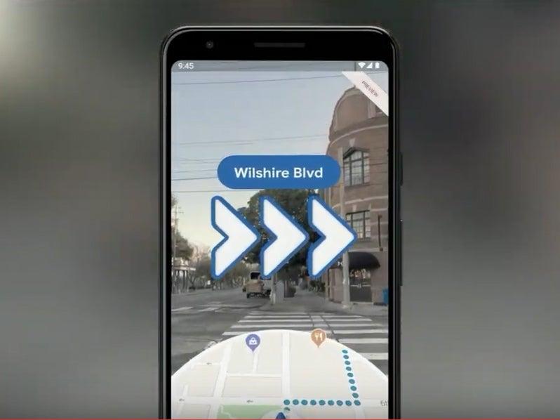 google maps ar mode