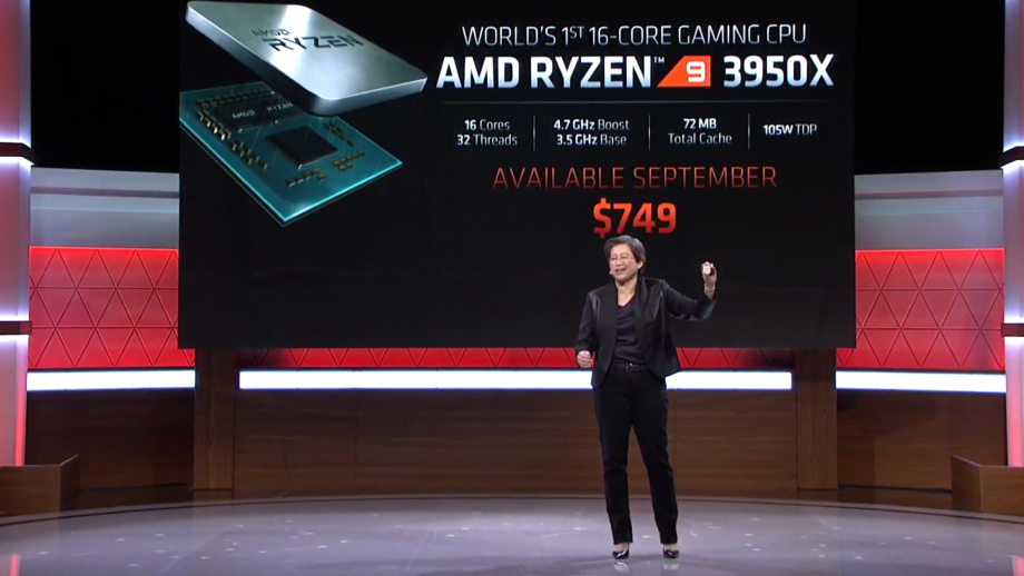 AMD announces new 3rd gen Ryzen 9 3950X 16-core gaming CPU