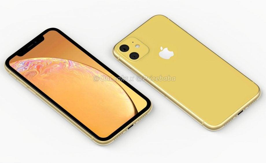 iPhone XR 2 rumour render yellow by @OnLeaks