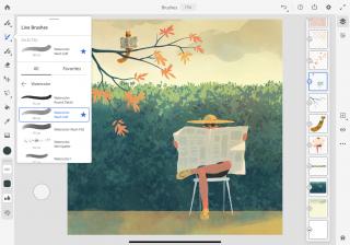Adobe Fresco Live Brushes Menu