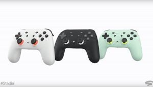 Google Stadia black, white, wasabi controllers