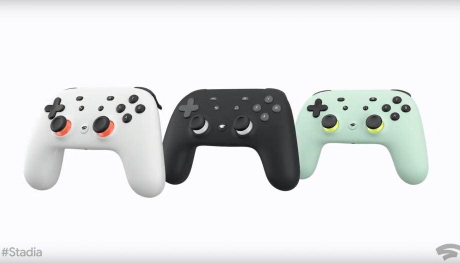 Google Stadia black, white, wasabi controllers