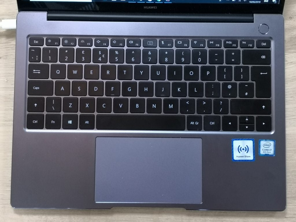 Huawei MateBook 14 review - keyboard and trackpad