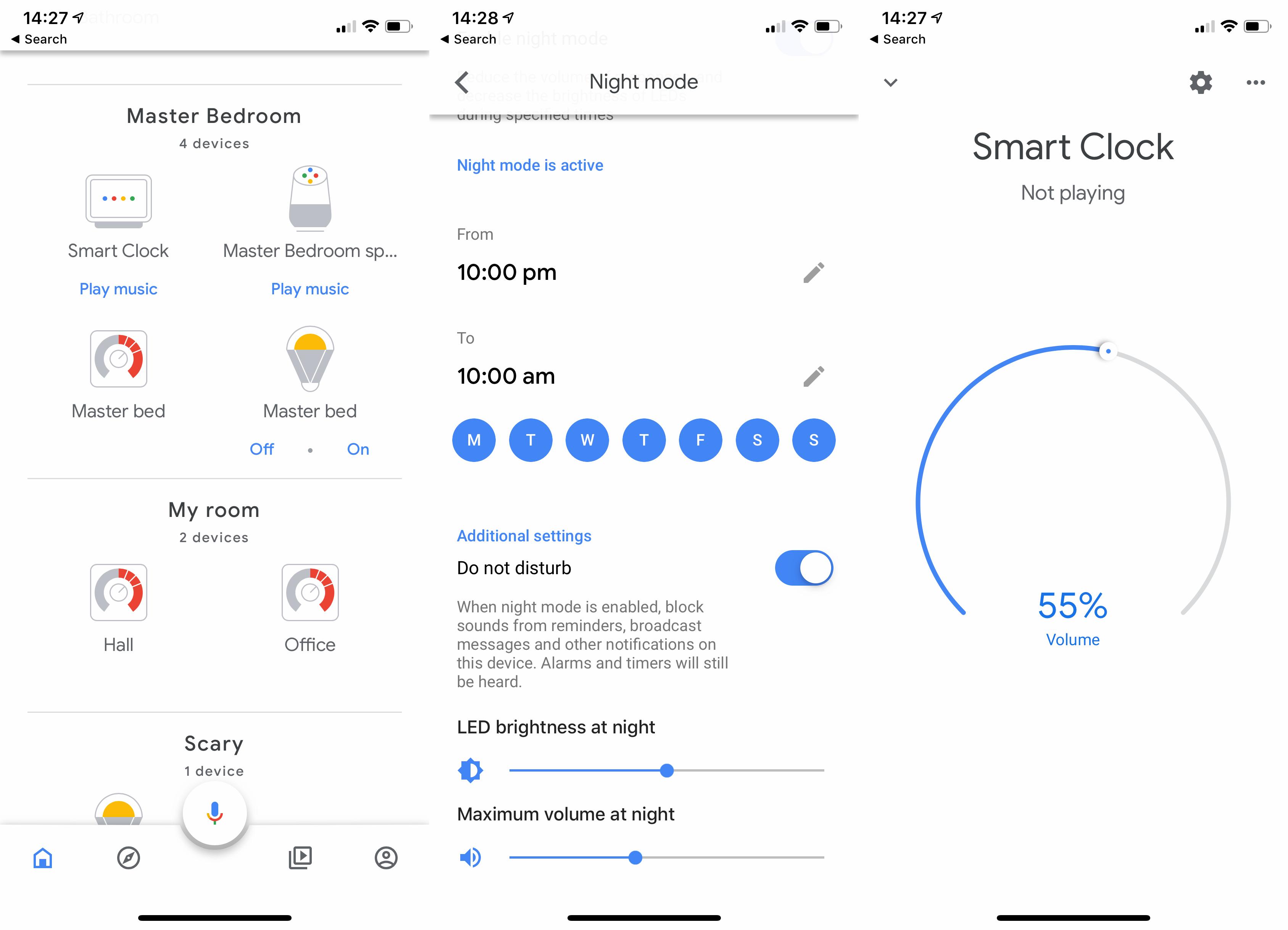 Lenovo Smart Clock Google Home app