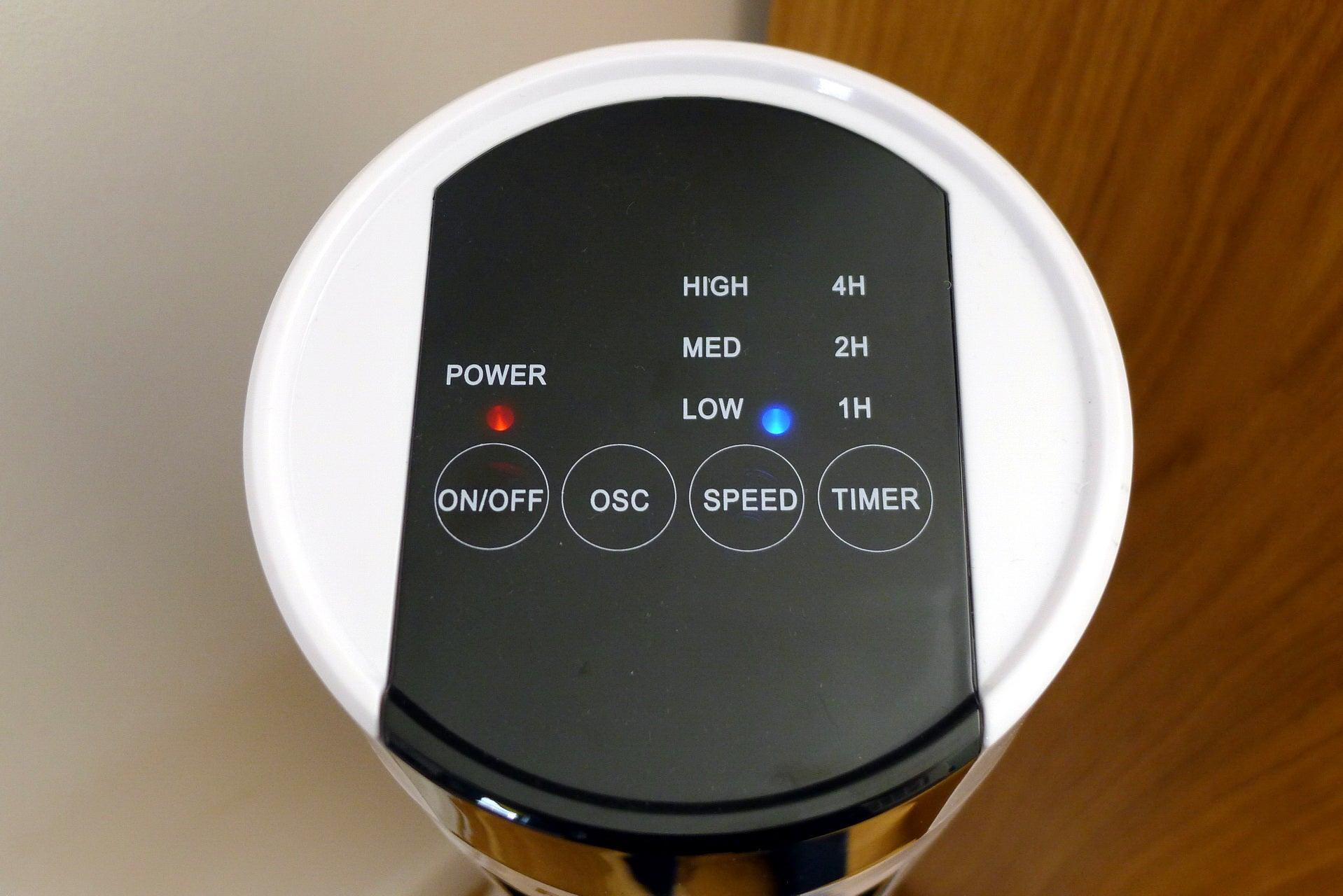 """Pro Breeze 40"""" Tower Fan Control Panel"""