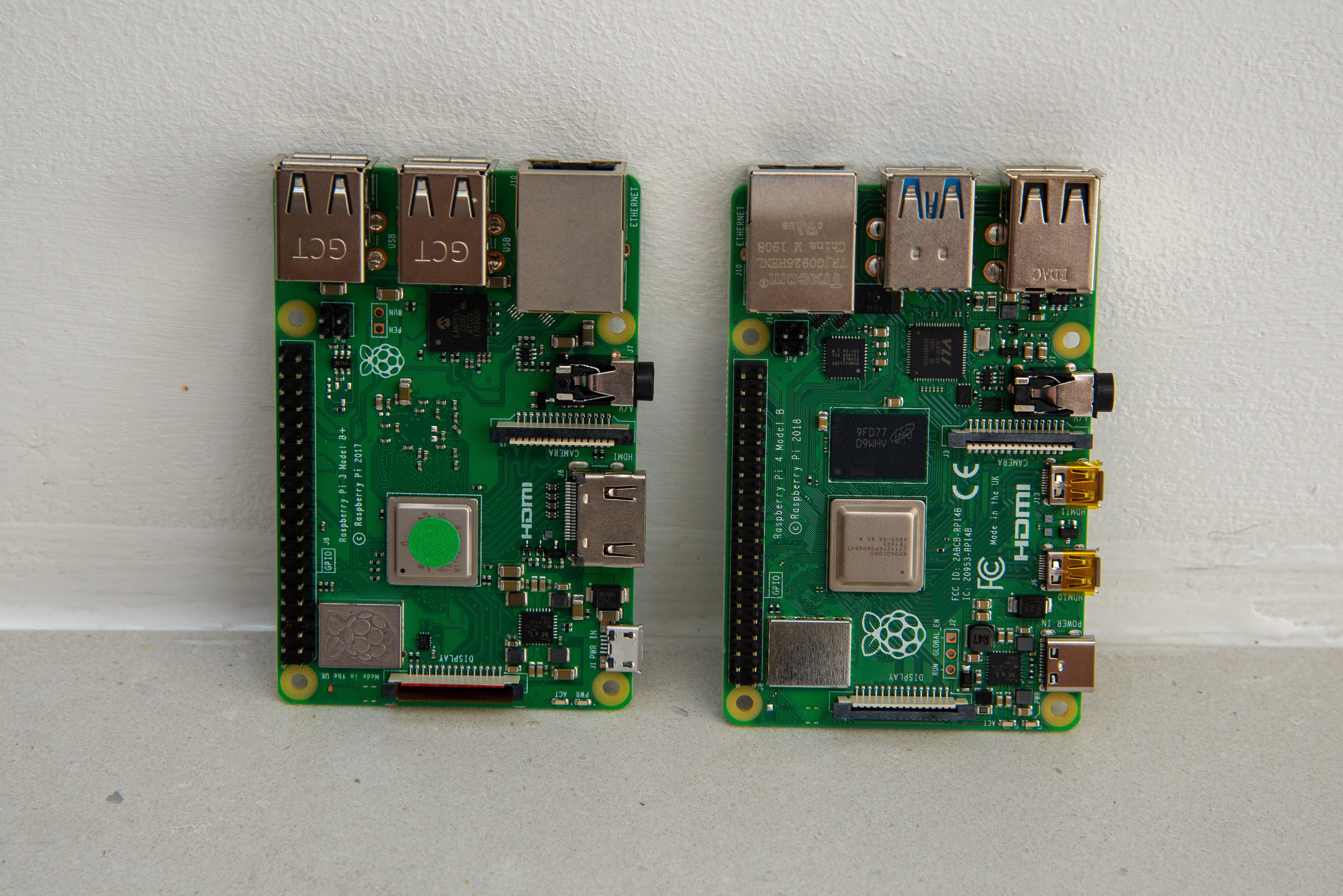 Raspberry Pi 4 Model B vs Pi 3 Model B+