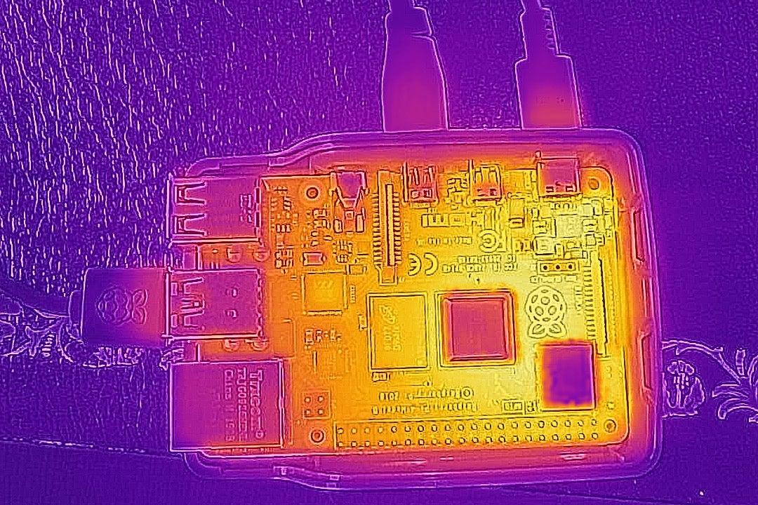 Raspberry Pi 4 Model B thermal