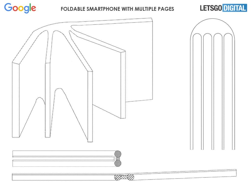 Google foldable phone book patent