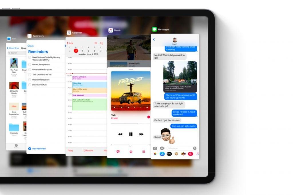 iPadOS Slide Over