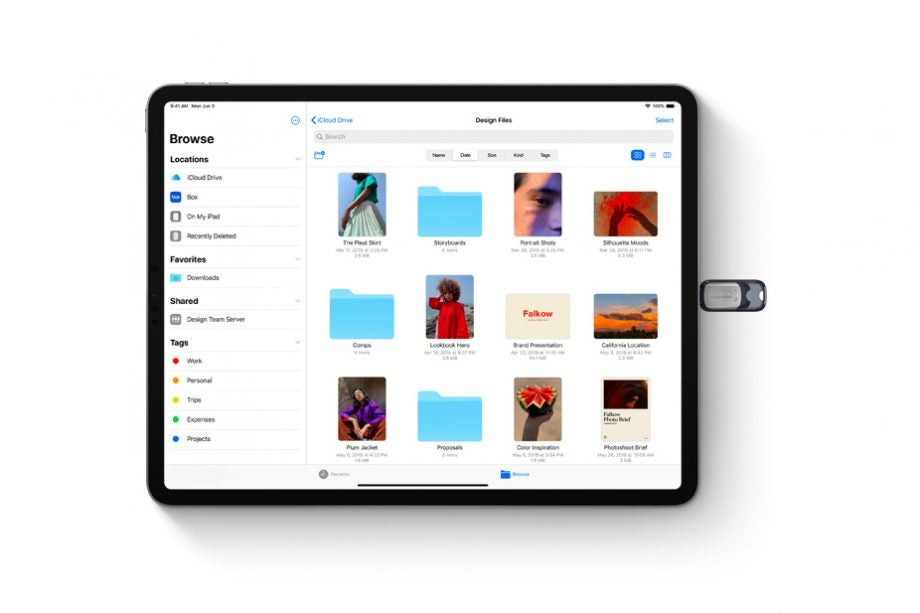 iPadOS USB stick small