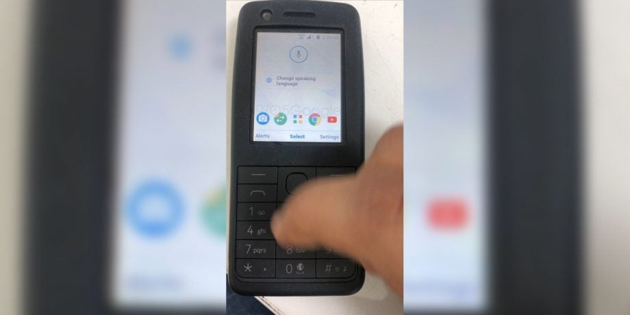Does this leak show Android on a feature phone?