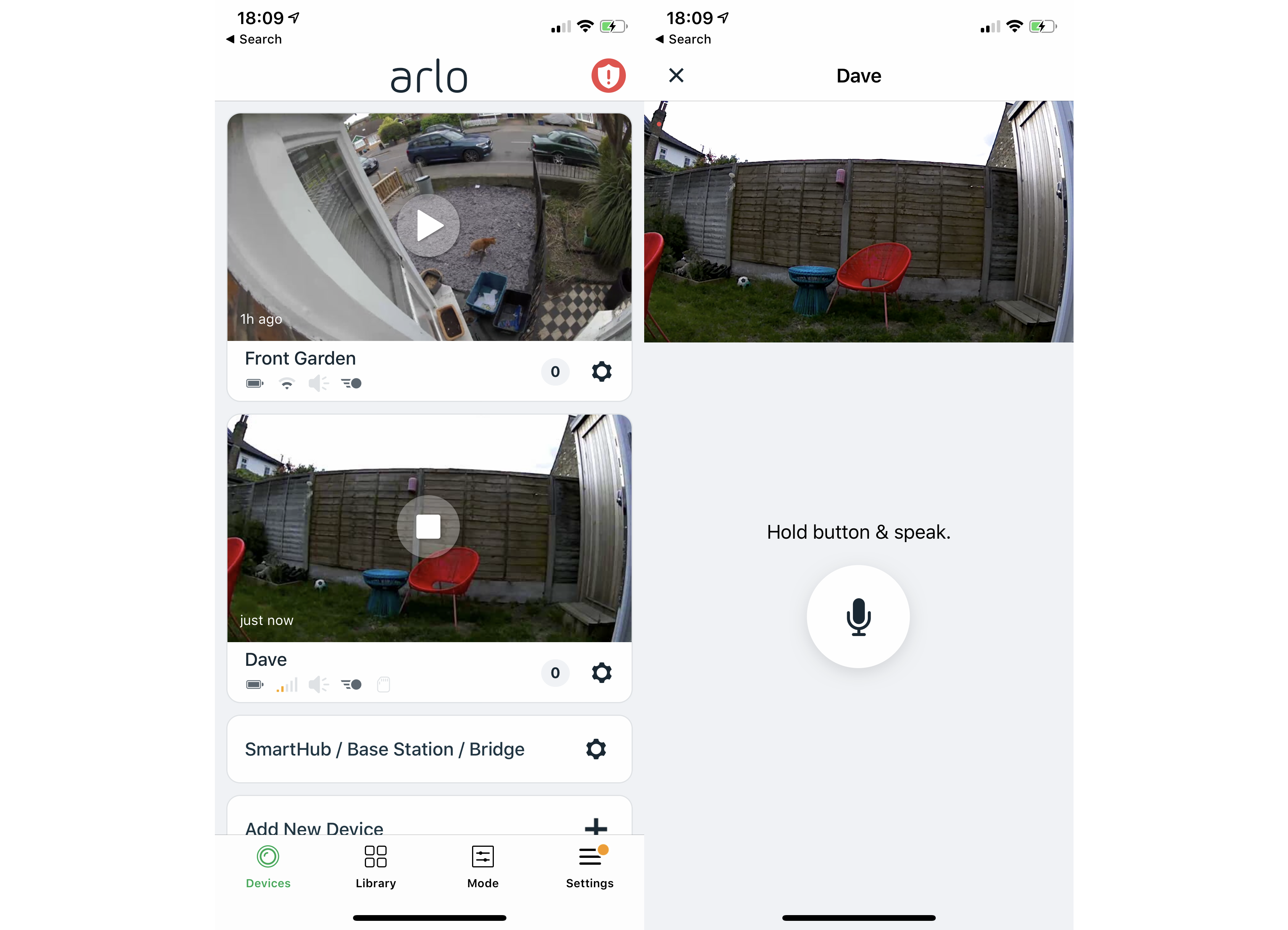 Arlo Go view and talk