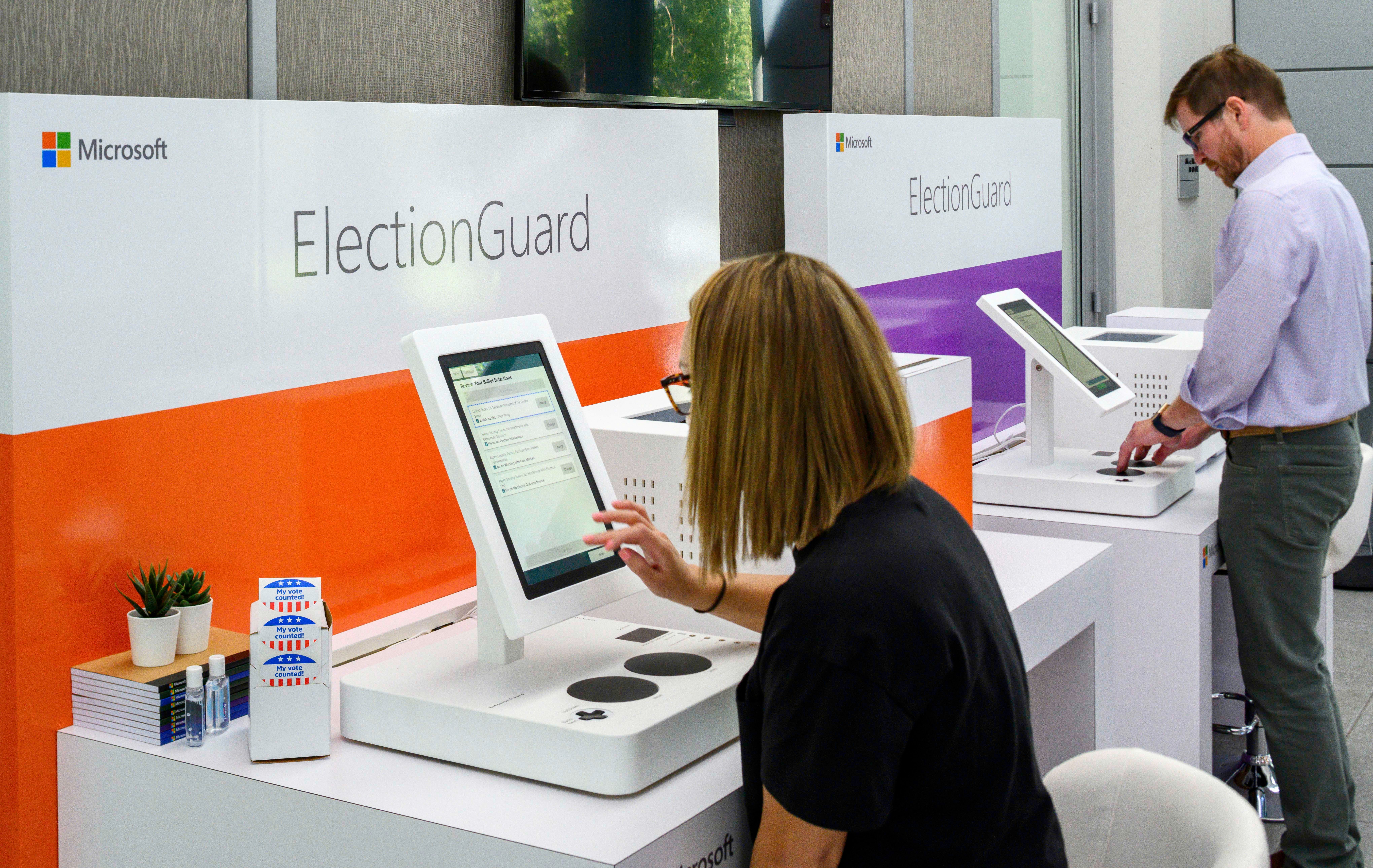 Microsoft demos its ElectionGuard software designed to block hackers