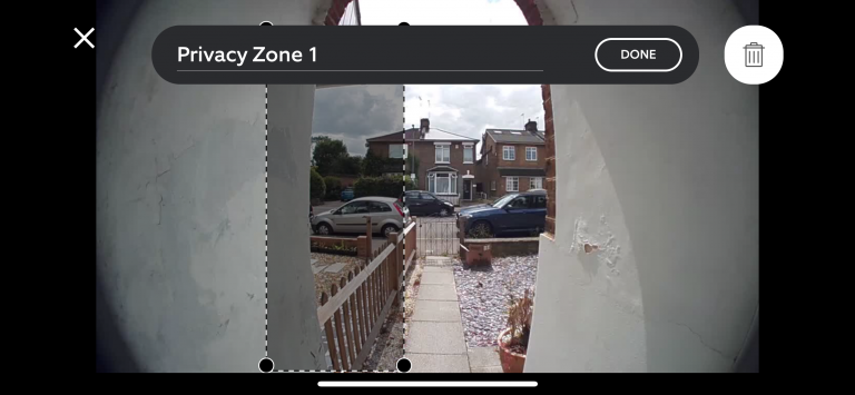 Ring Door View Cam Privacy Zone