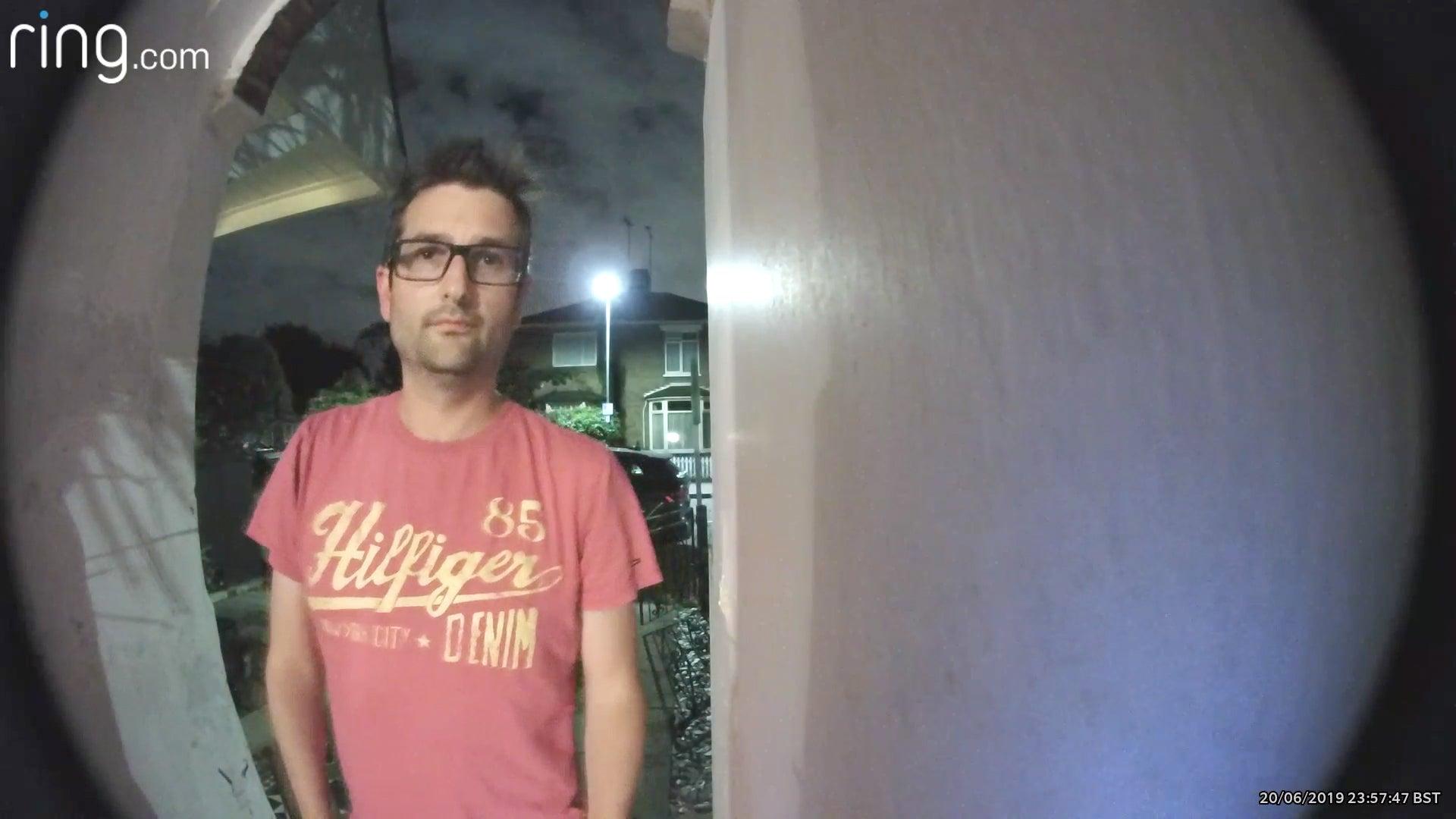 Ring Video Doorbell Pro nighttime sample