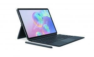 Galaxy Tab S6 with keyboard cover