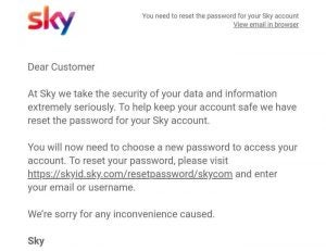 Sky email