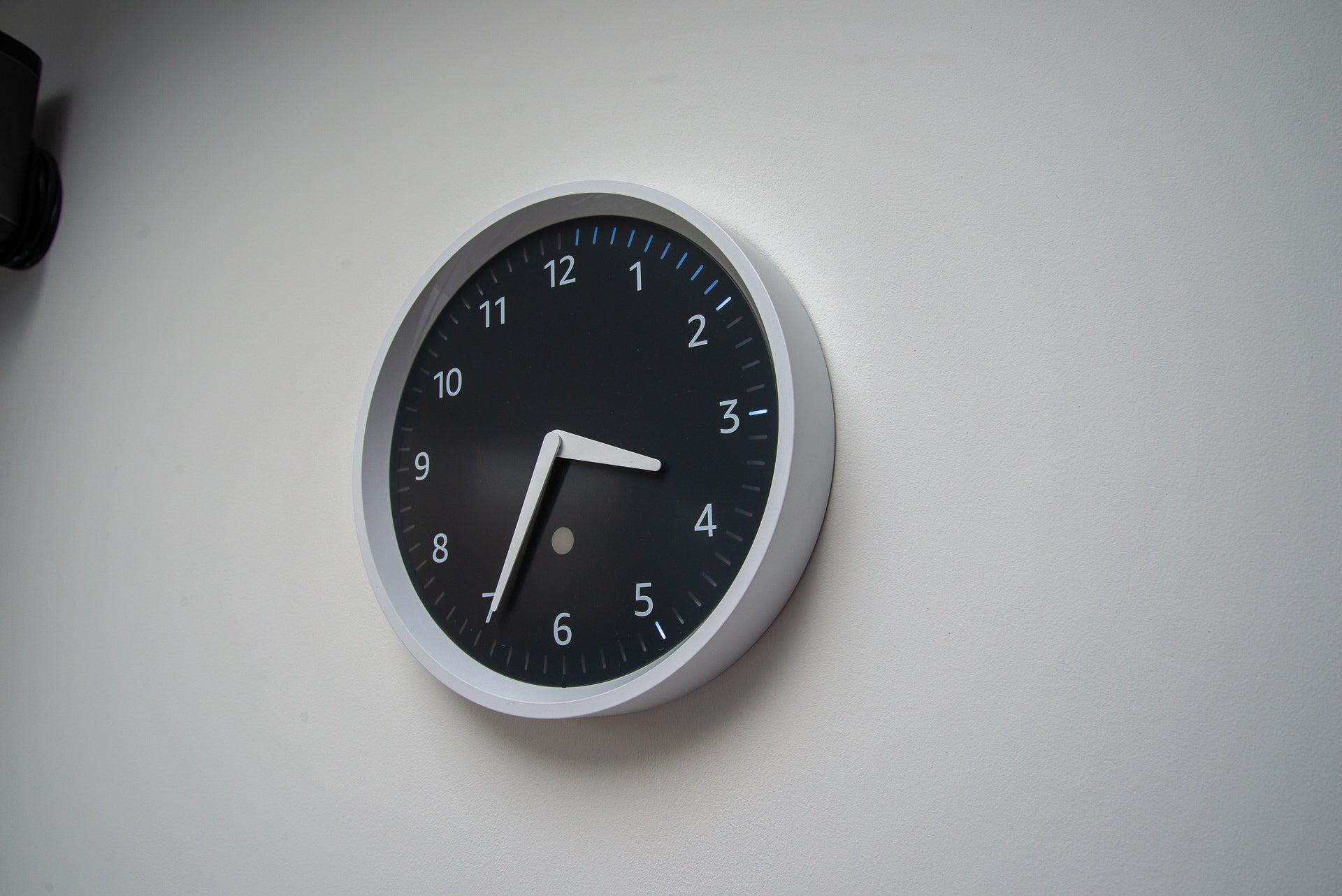 Amazon Echo three-timer wall clock