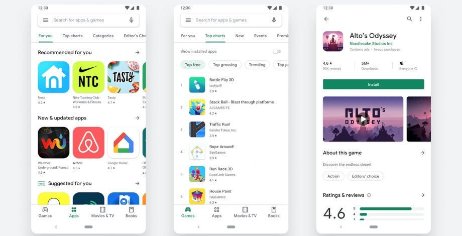 Google Play Store gets a total redesign on Android – and it's so much nicer
