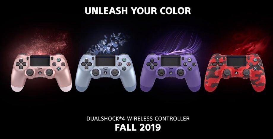 PS4 DualShock 4 colours