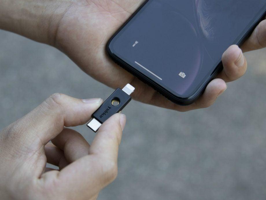 YubiKey 5Ci security key iphone