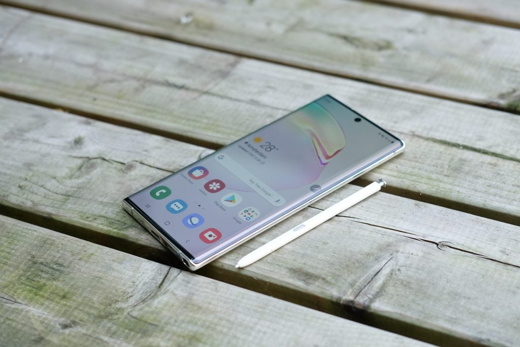 Galaxy Note-10 Plus front and S Pen