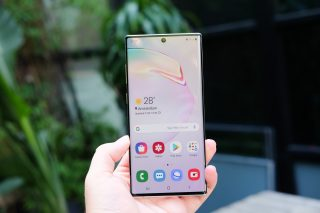 Galaxy Note 10 Plus rear front