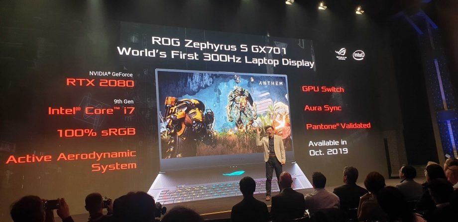 Asus unveils the 'world's first 300Hz' laptop screen – right