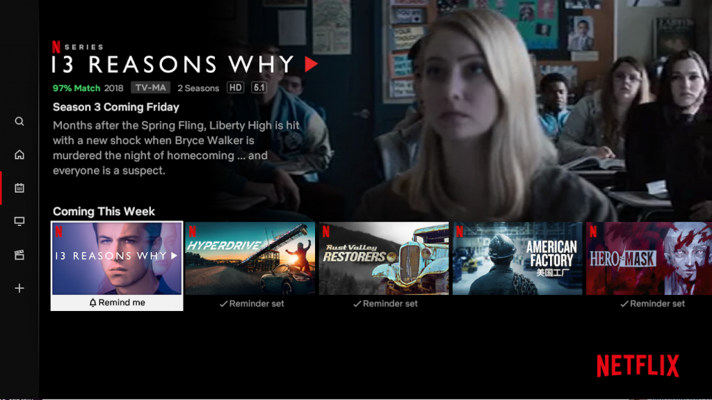 Netflix Remind Me