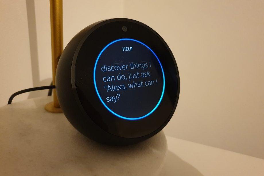 Amazon Echo Spot blue light