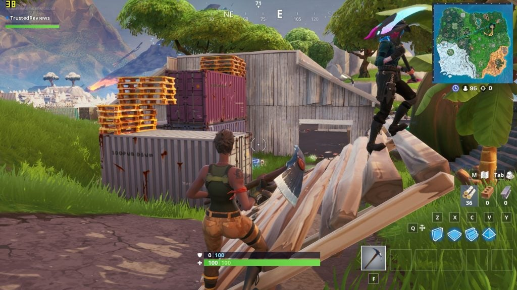 Fortnite played on the HP Pavilion 15 cs1506sa with all graphics and textures settings on epic