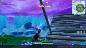 Fortnite played on the HP Pavilion 15 cs1506sa with texture settings on low