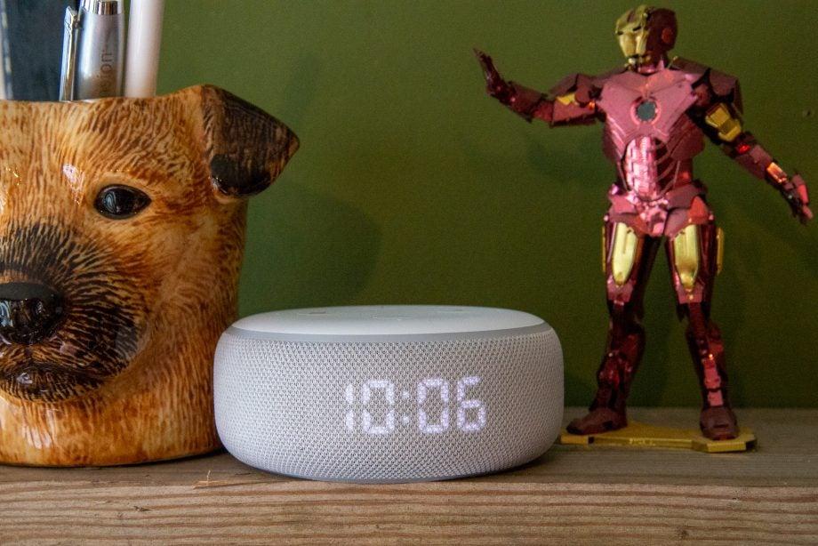 Amazon Echo Dot with Clock hero