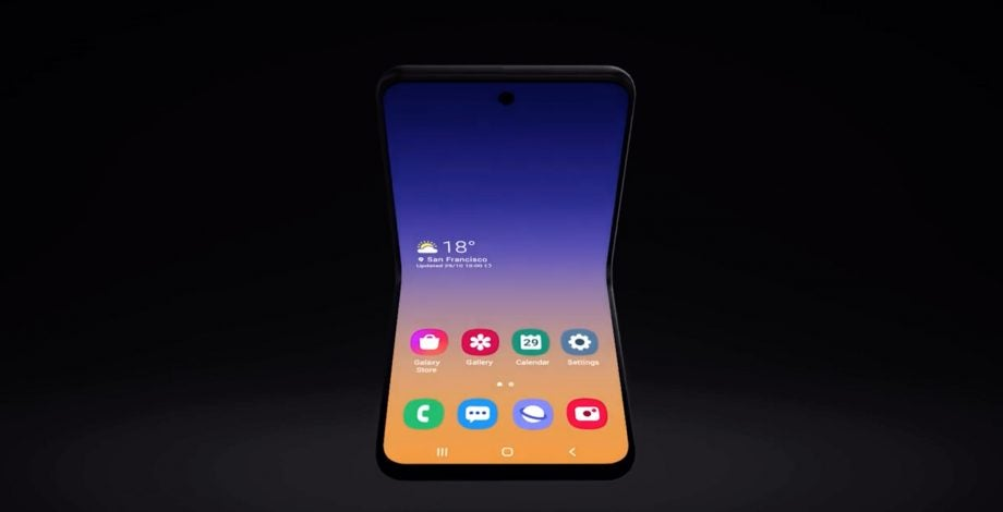 clamshell galaxy fold concept