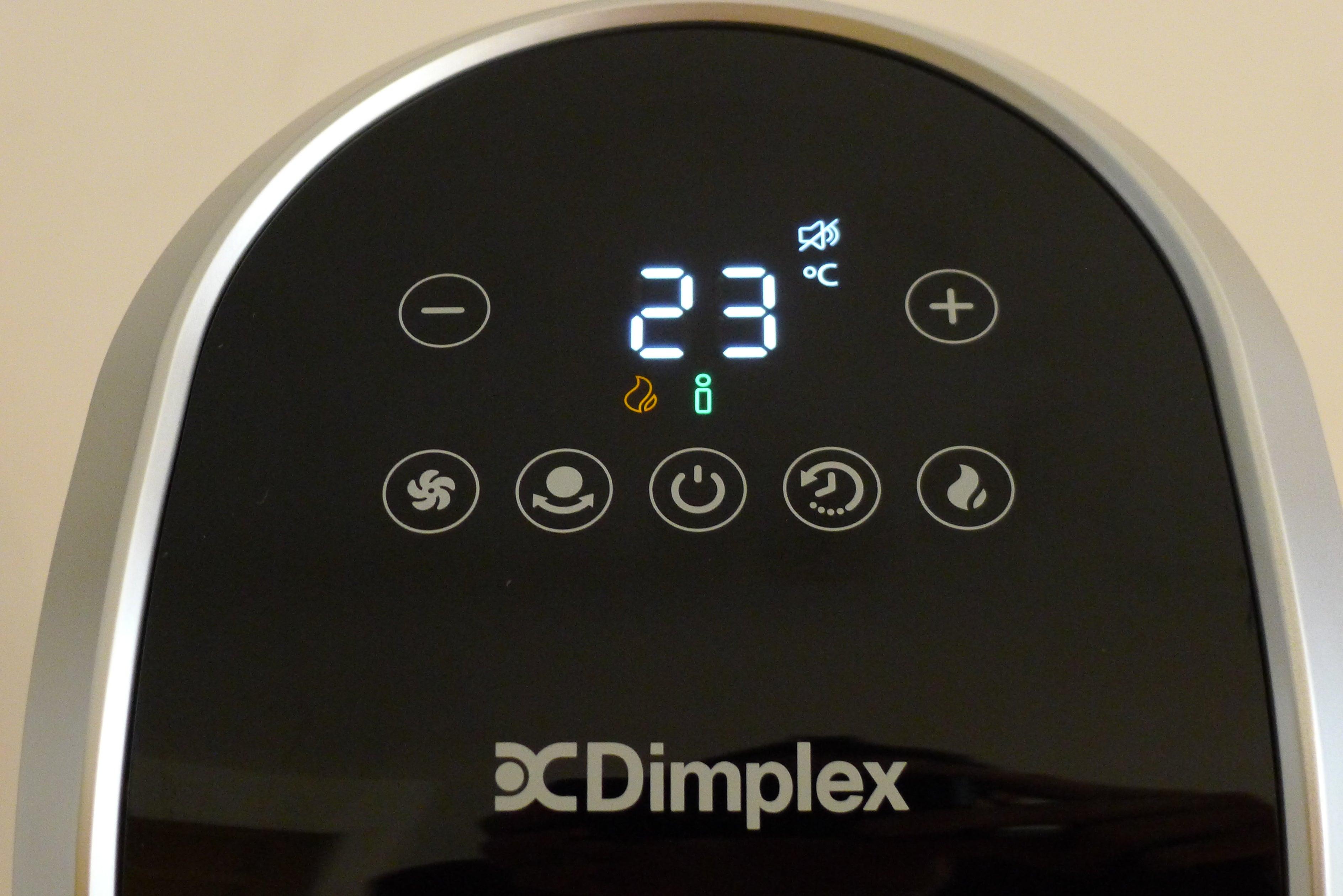 Dimplex MaxAir controls