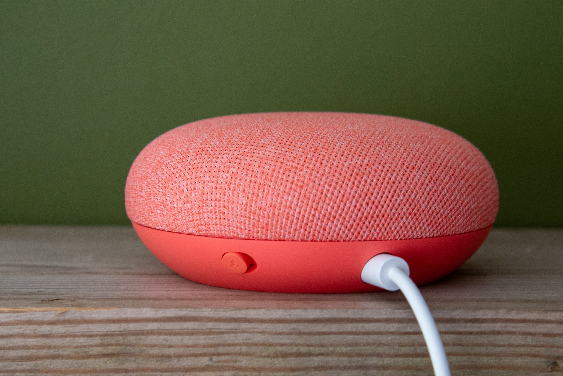 Google Nest Mini rear and mute switch