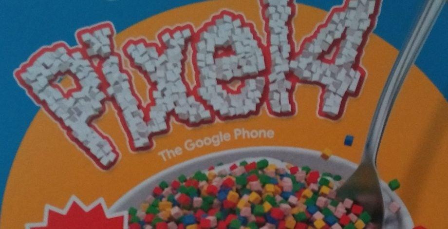 Pixel 4 cereal box