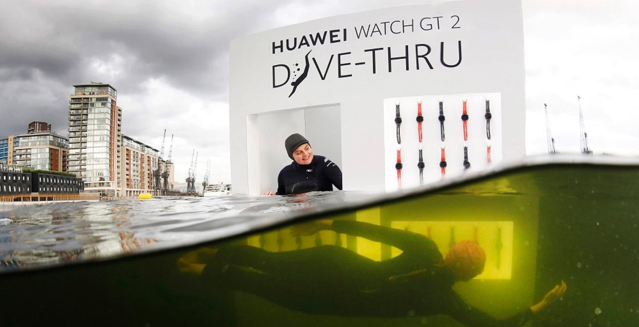 Want a free Huawei Watch GT2? You're going to need to get wet