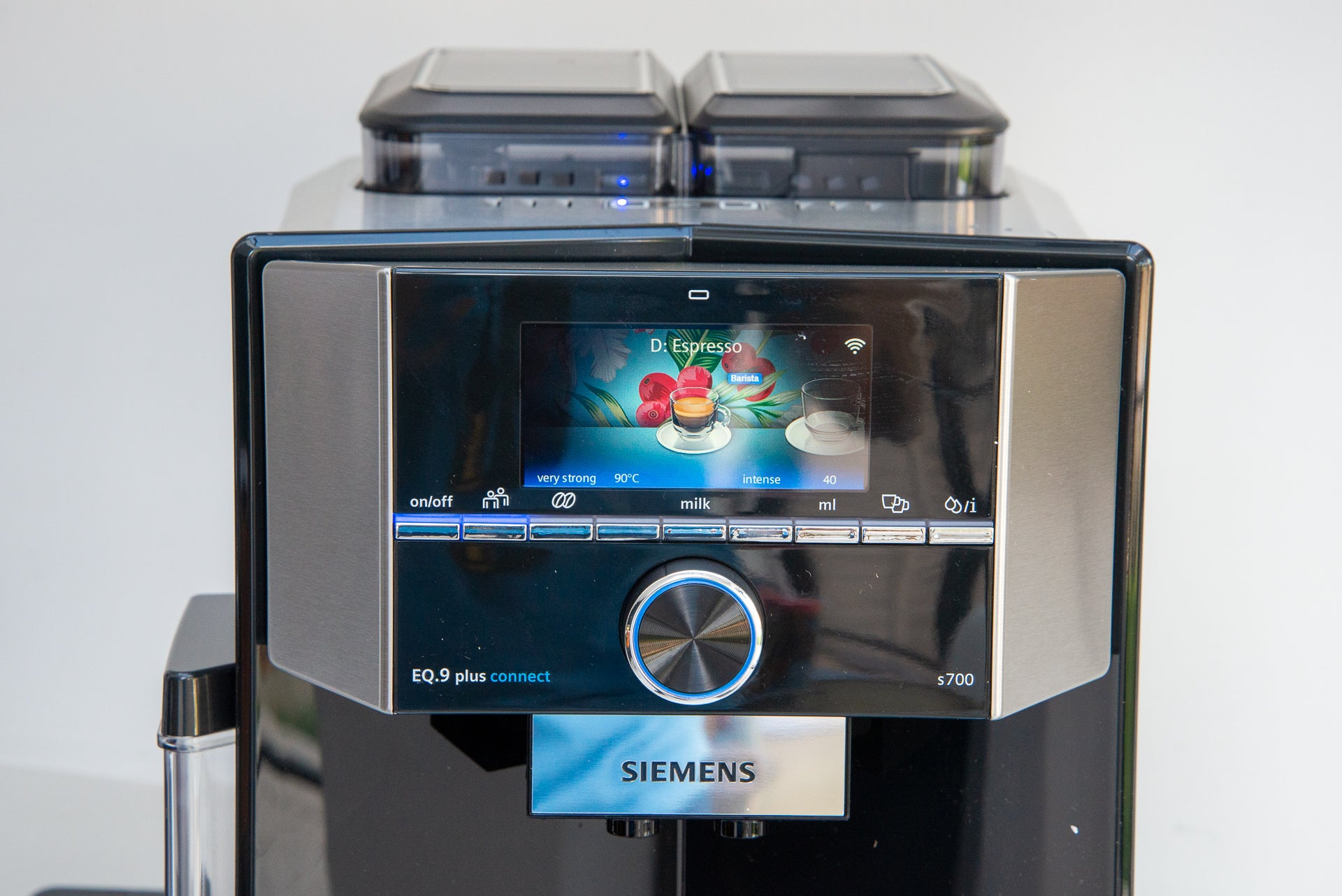 Siemens EQ.9 Plus Connect drink selector