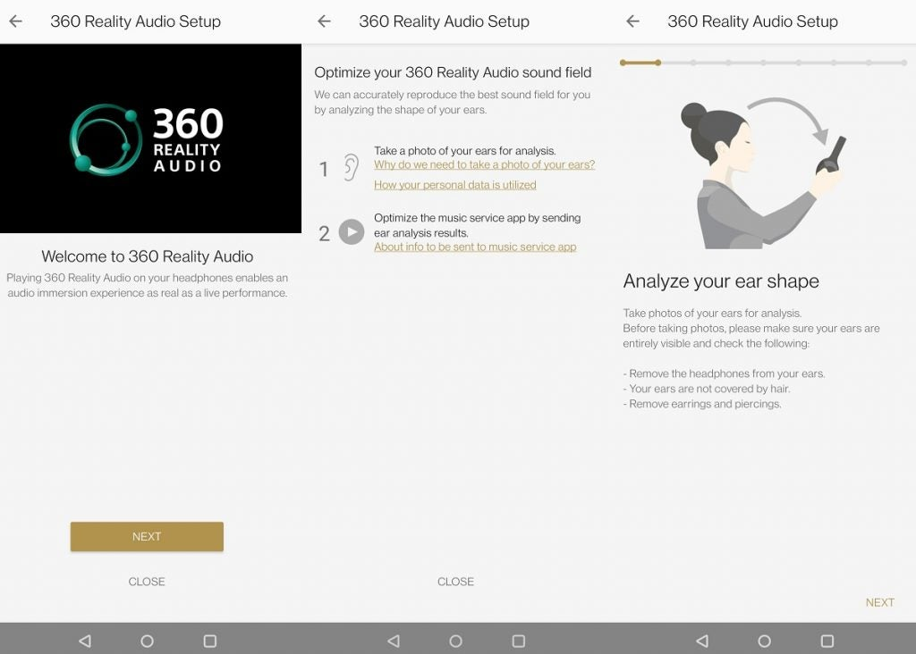 Setting up the 360 Reality Audio in the Sony Headphones Connect app